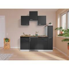 Keuken Luis met walnoot werkblad 180 cm grijs