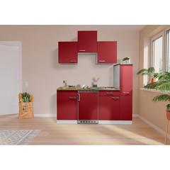 Keuken Luis met walnoot werkblad 180 cm rood