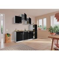 Respekta Keuken Luis met walnoot werkblad 180 cm zwart