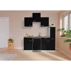 Keuken Luis met walnoot werkblad 180 cm zwart