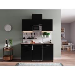 Keukenblok Oliver 150 cm zwart