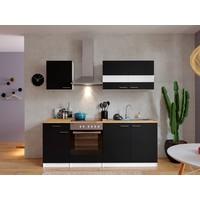 Respekta Keuken Malia zwart met walnoot werkblad
