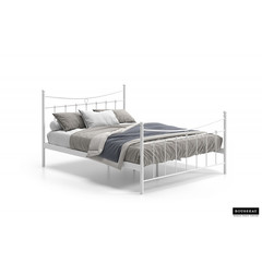 Bed Sascha wit 160x200