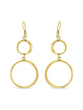 Earrings - Double Thin Hoop