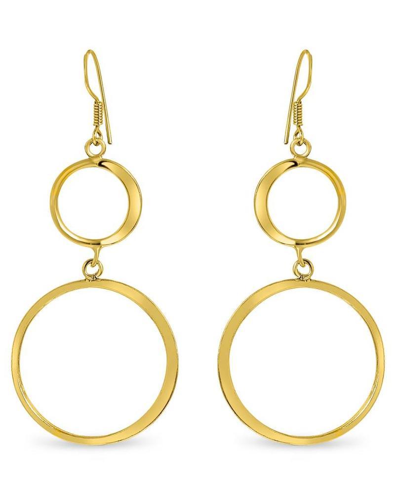 Earrings - Double Thin Hoop