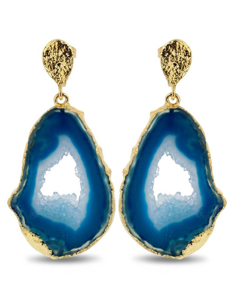 Earrings - Save The Date Blue