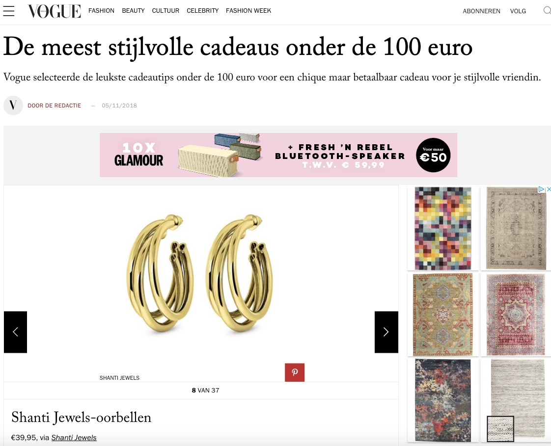 Shanti Jewels in de Vogue