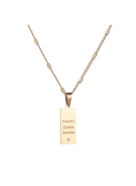 Necklace - Travel, Dream, Become