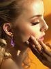 Earrings - Save The Date Purple