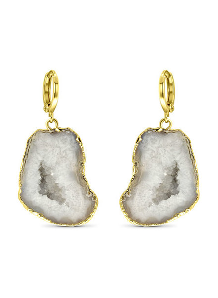 Earrings - Amala White