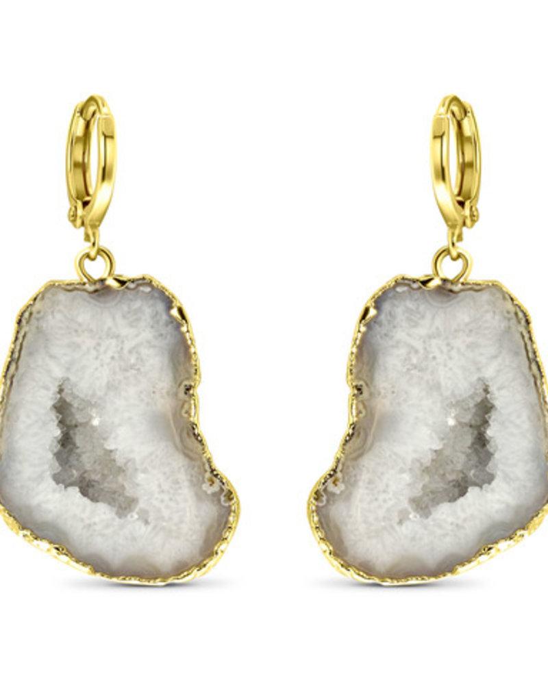 Earrings - Amala White