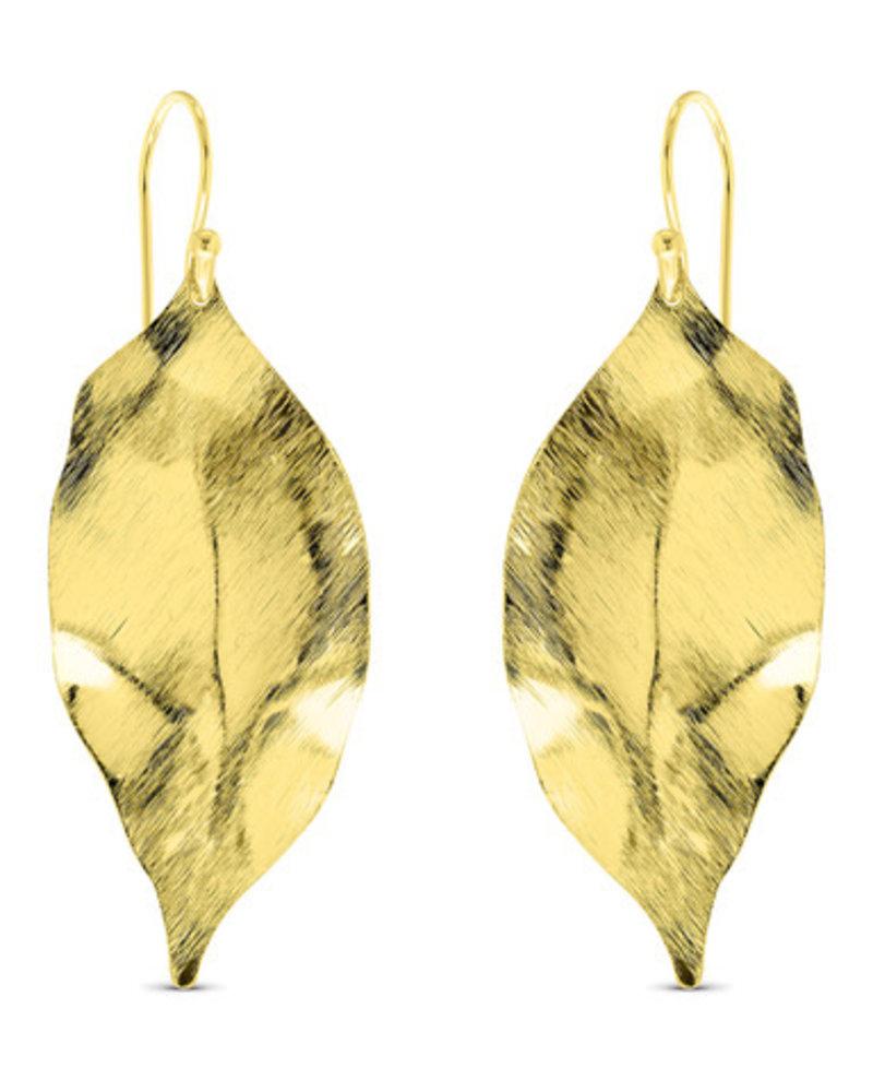 Earrings - Matte Feather