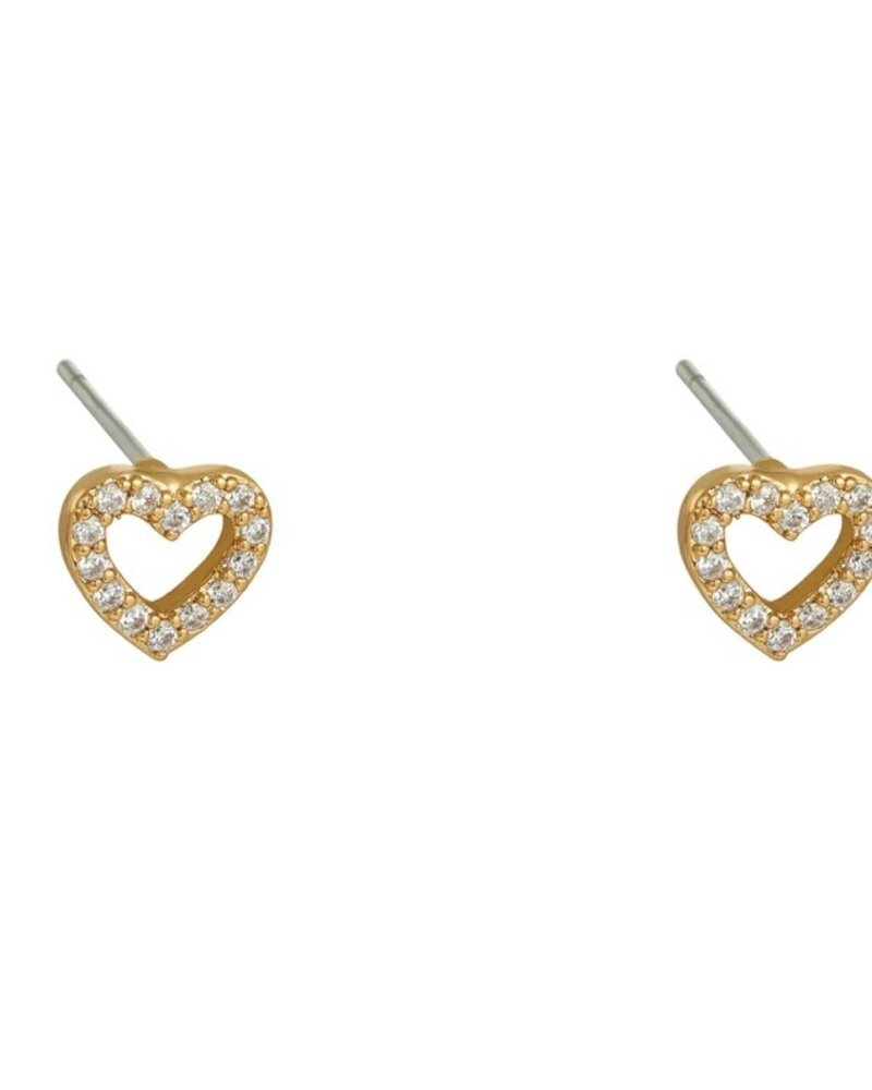 Earrings - Heart Studs