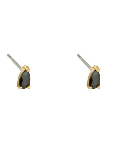 Earrings - Black Drop