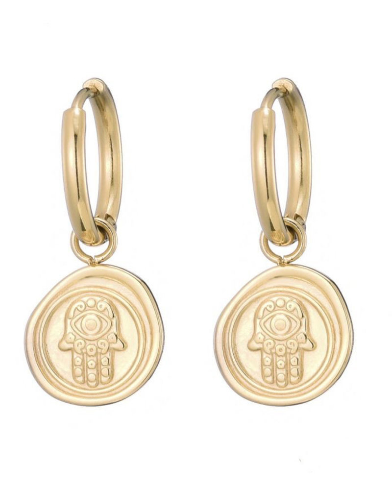 Earrings - Hamsa