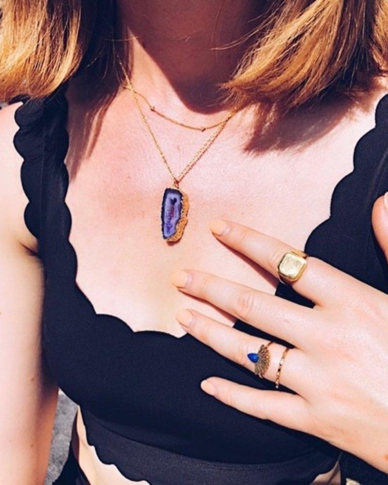 Necklace - Shiva Purple