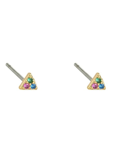 Earrings - Mini Triangle Color
