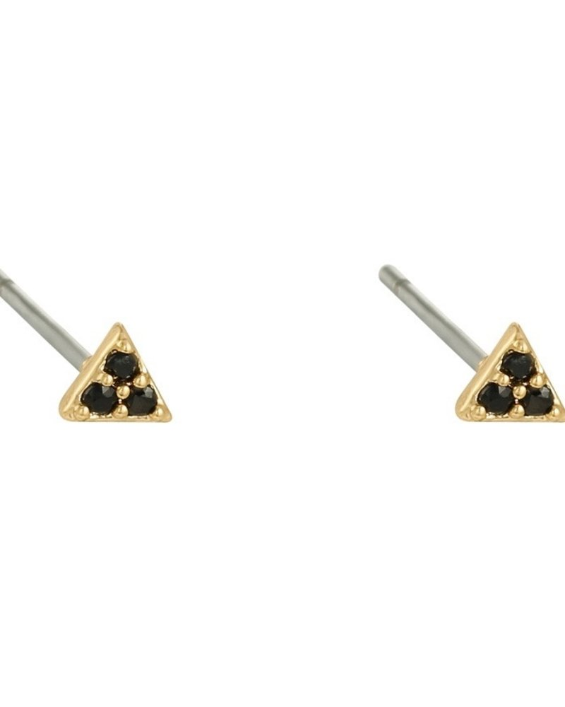 Earrings - Mini Triangle Black