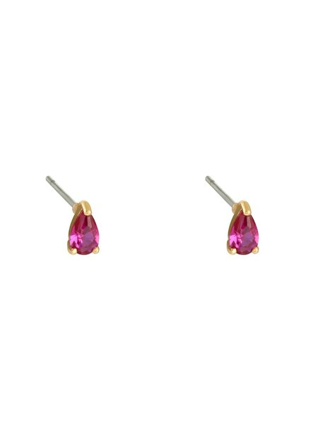 Earrings - Pink Drop
