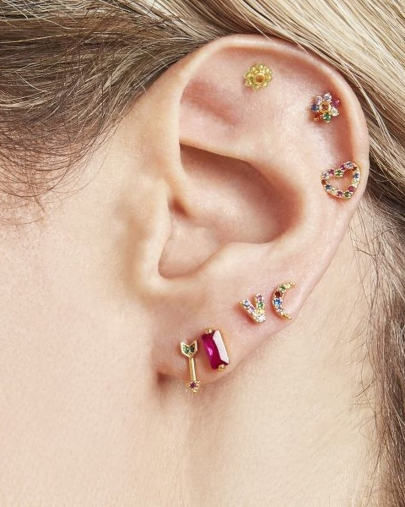 Oorbellen - Moon Color Studs