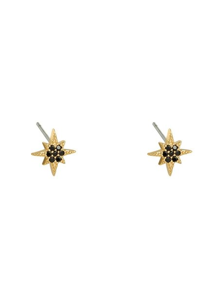 Earrings - Sparkle Studs Black