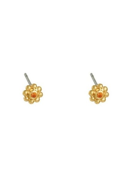 Earrings - Flower Studs Orange