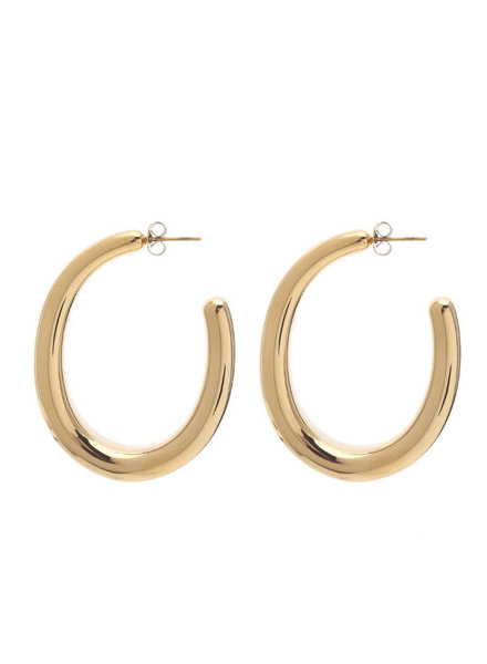 Earrings - Oval Hoops