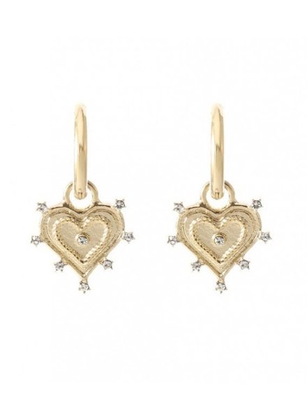 Earrings - Heart White