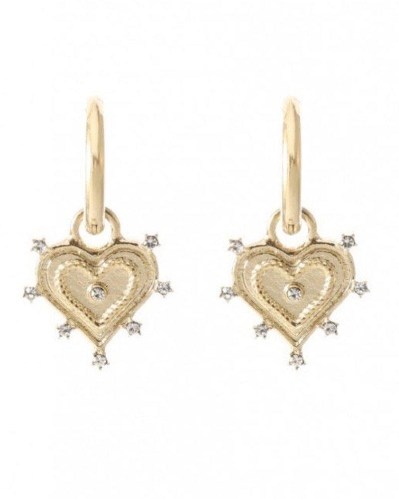 Earrings - Heart White
