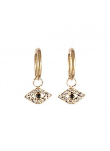 Earrings - Diamond eye