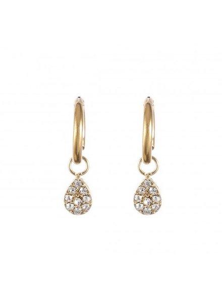Oorbellen - Diamond Drop