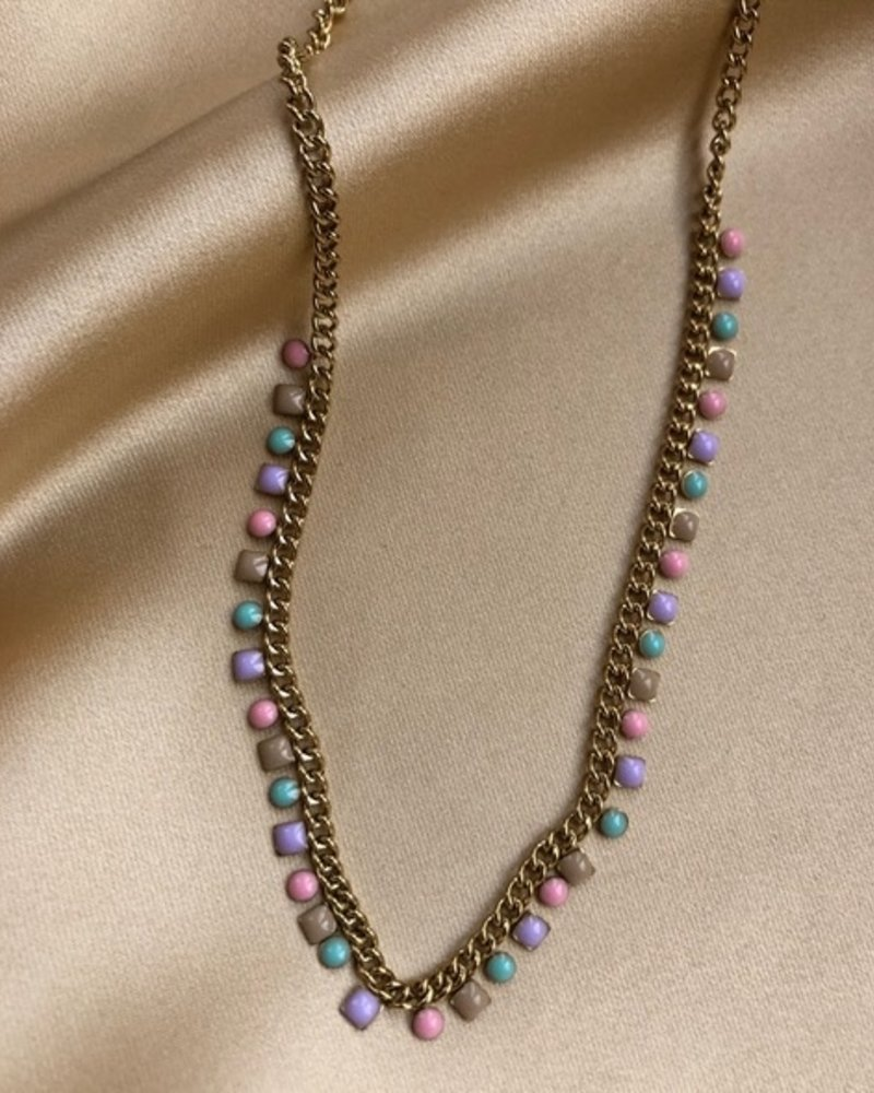 Necklace - Rounds and Squares Colors
