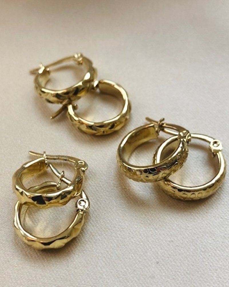 Earrings - Small Panther Hoops