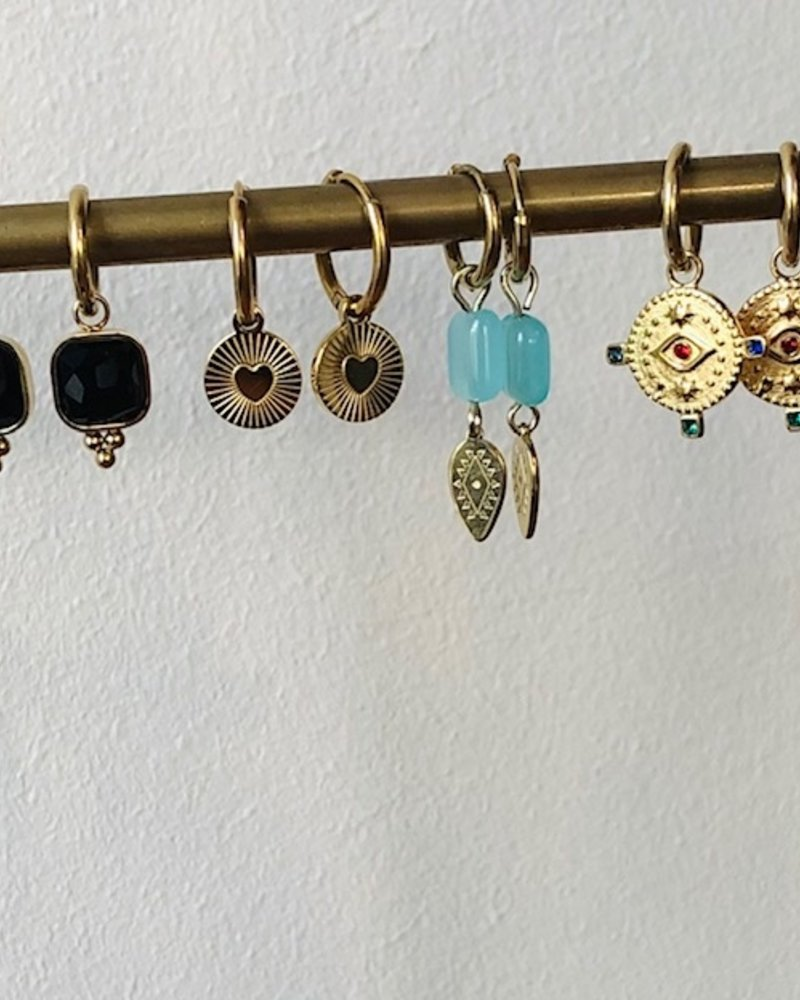 Earrings - Reeva Black