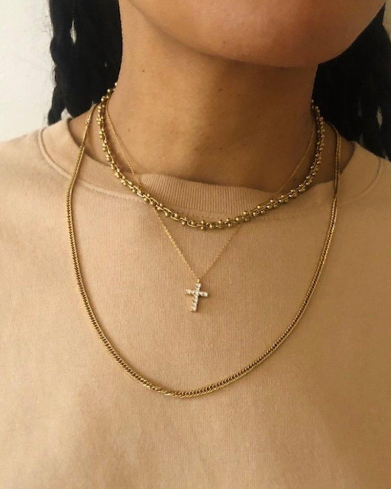 Necklace - Diamond Cross