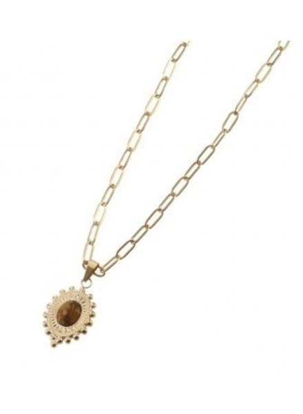 Necklace - Avasa Brown