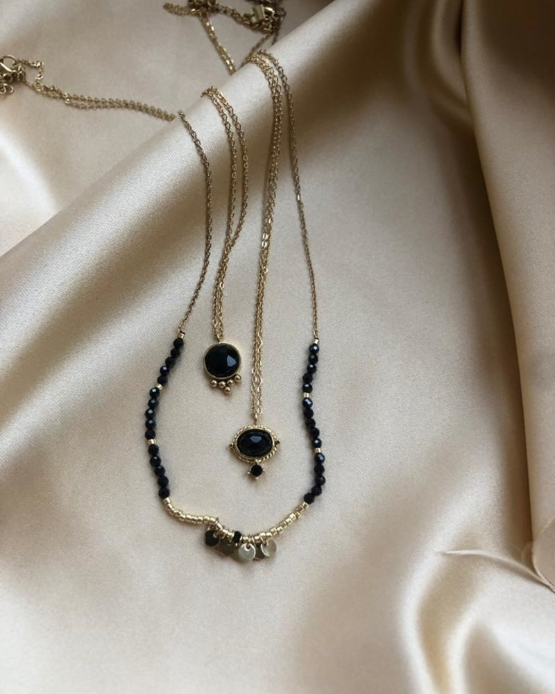Necklace - Amelie Black
