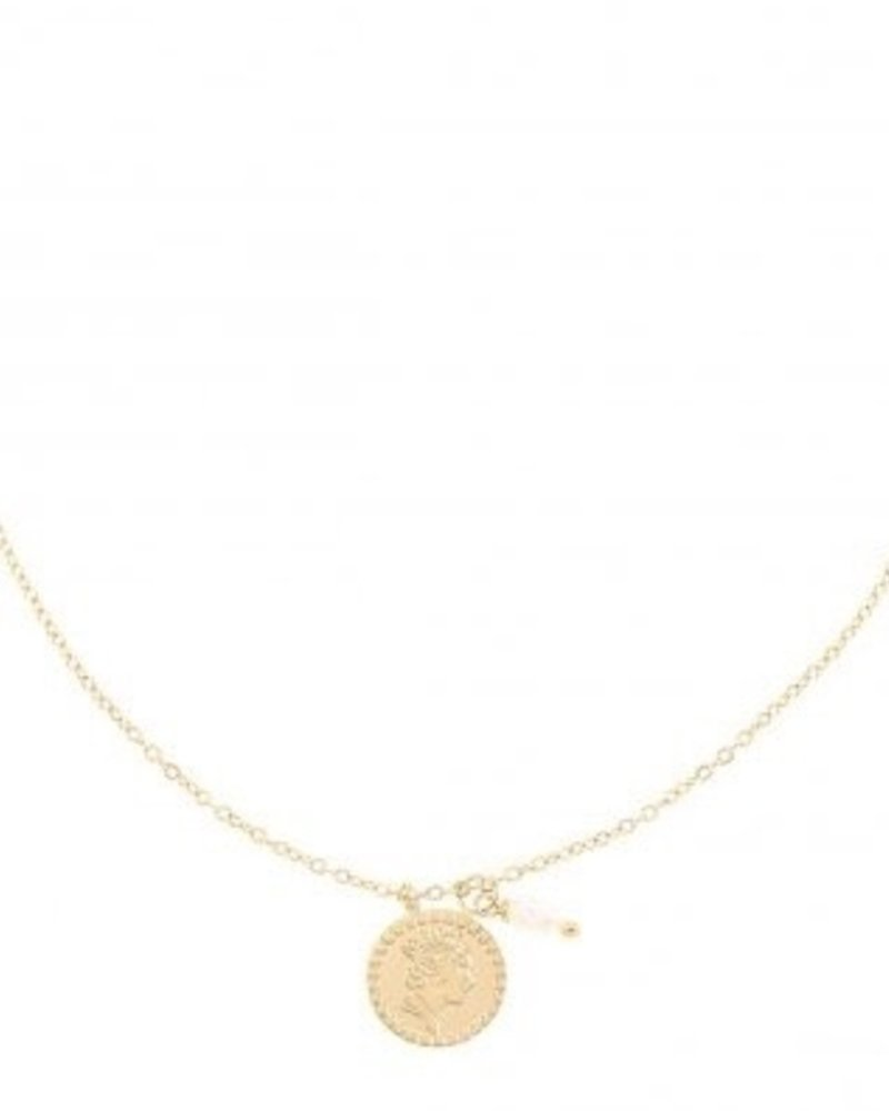 Necklace - Coin and Pearl