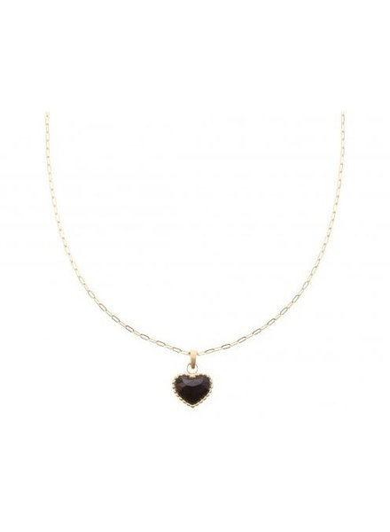 Necklace - Heart Black