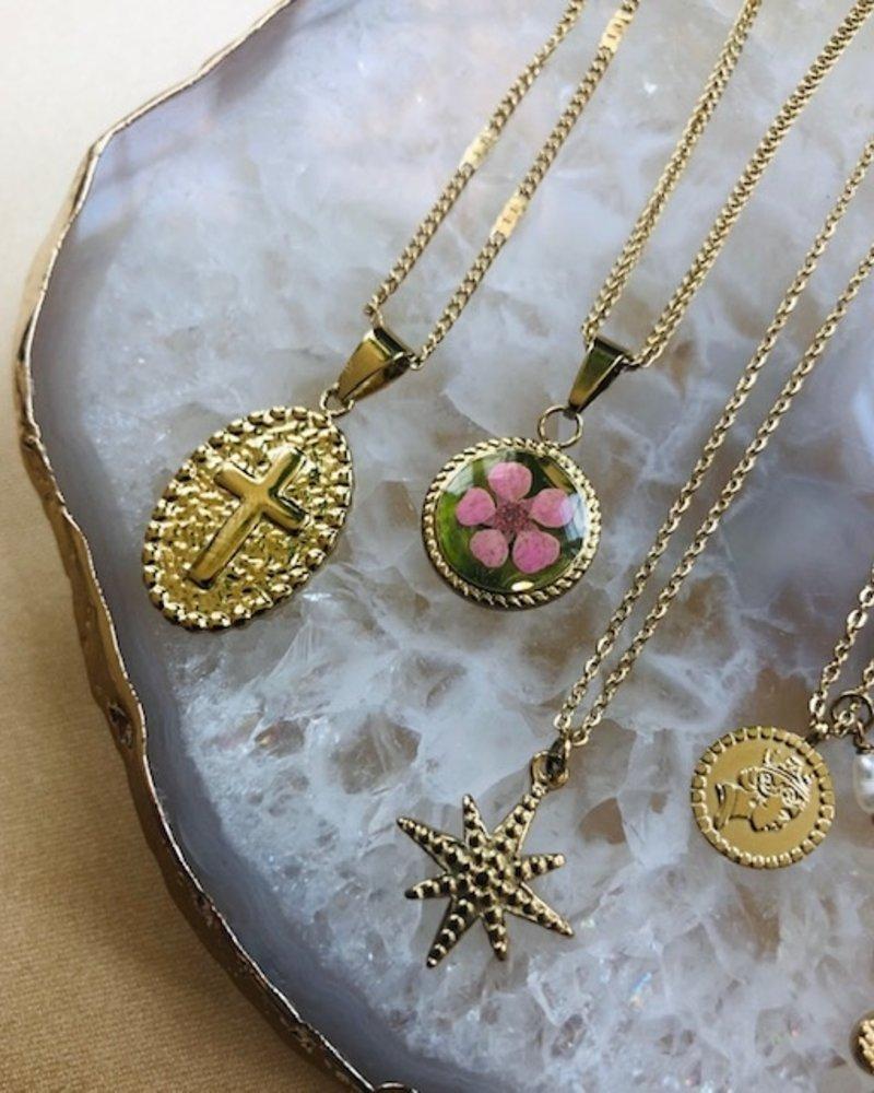 Ketting - Pink Flower