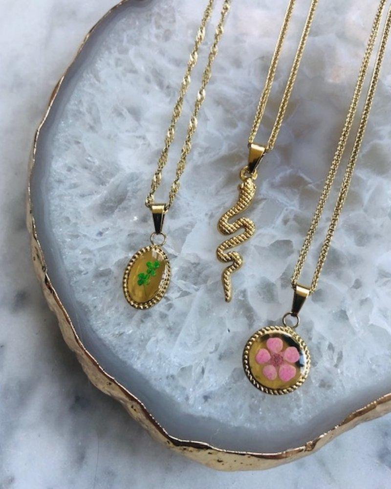 Necklace - Pink Flower