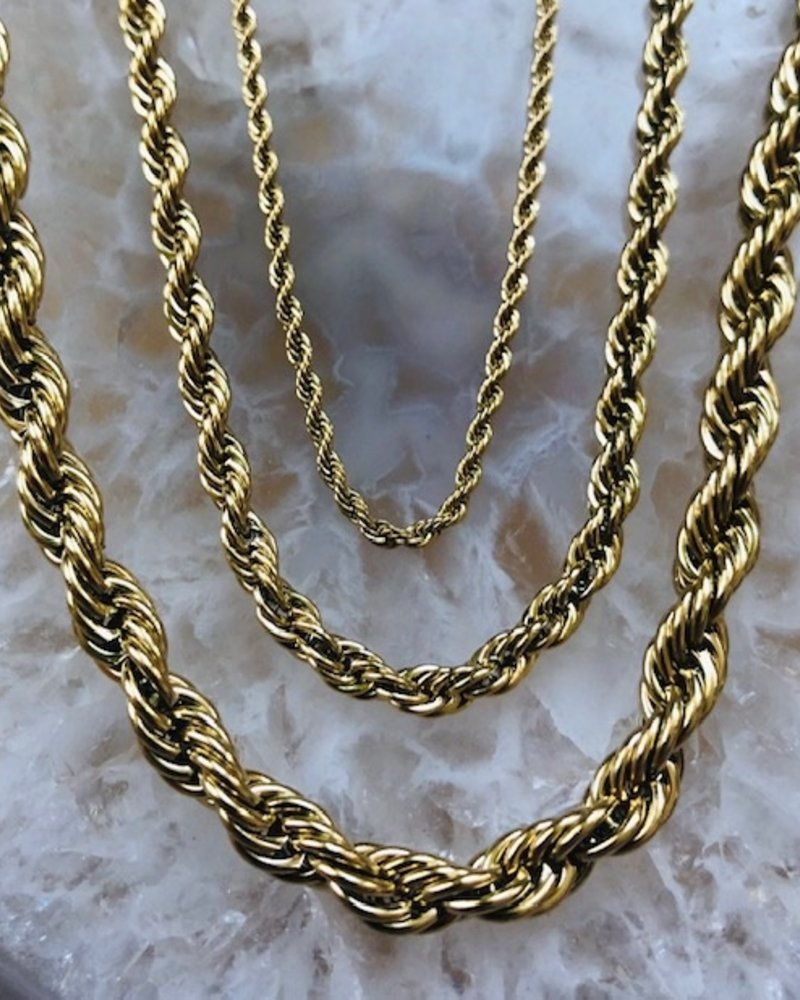 Necklace - Small Twist Long