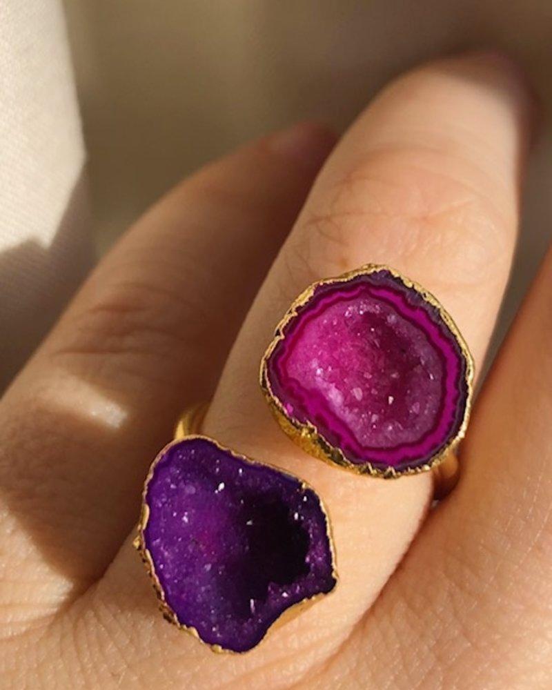 Ring - Savita Purple/Pink