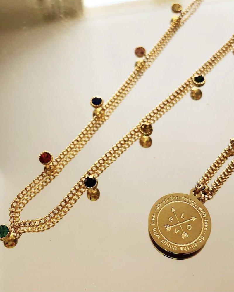 Necklace - 9 Diamonds Colors