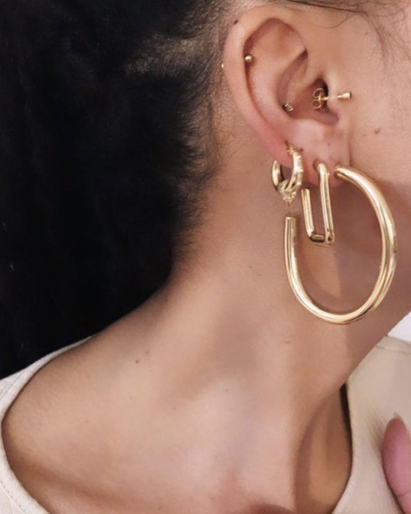 Earrings - Oval Hoops
