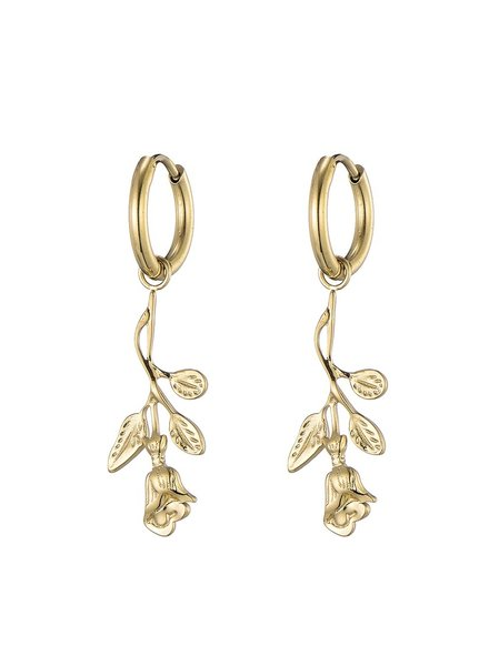 Earrings - Flat Rose