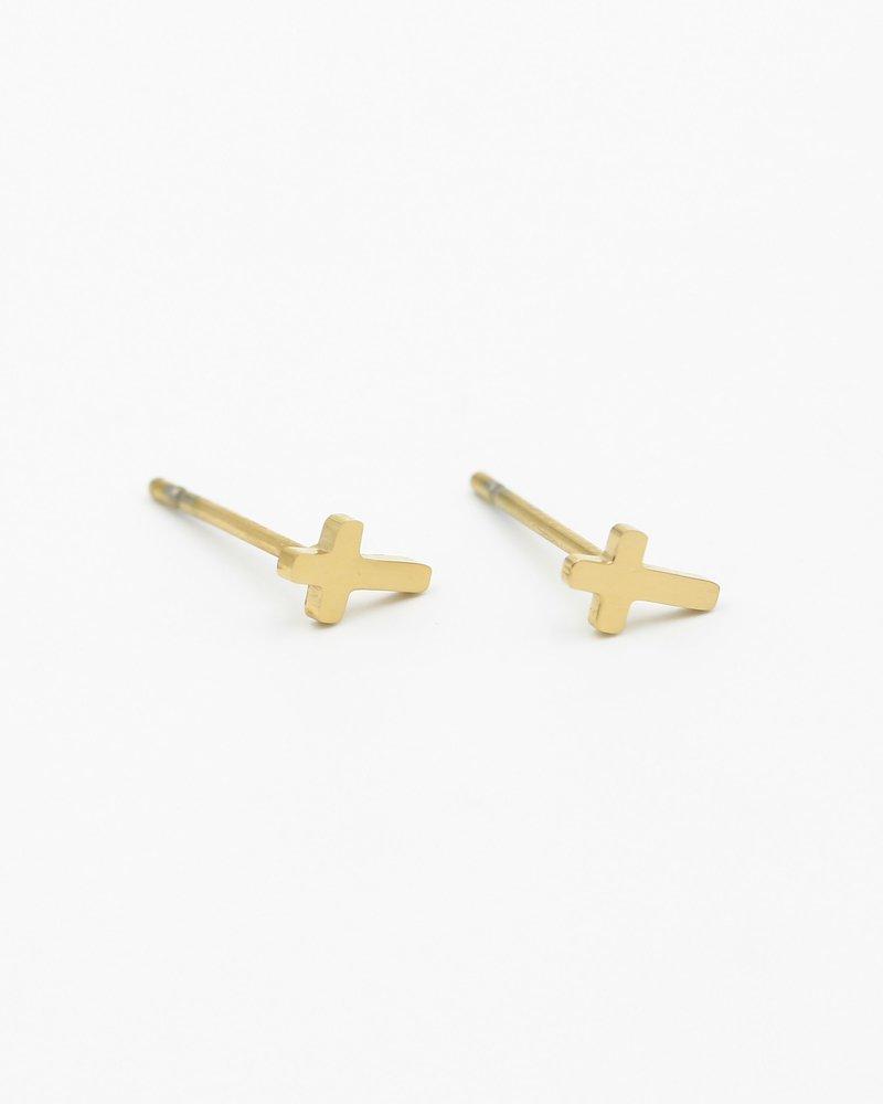 Earrings - Cross Studs