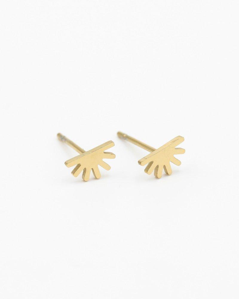 Earrings - Half Sun Studs