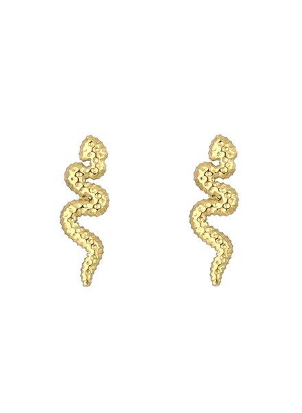 Earrings - Snake Studs