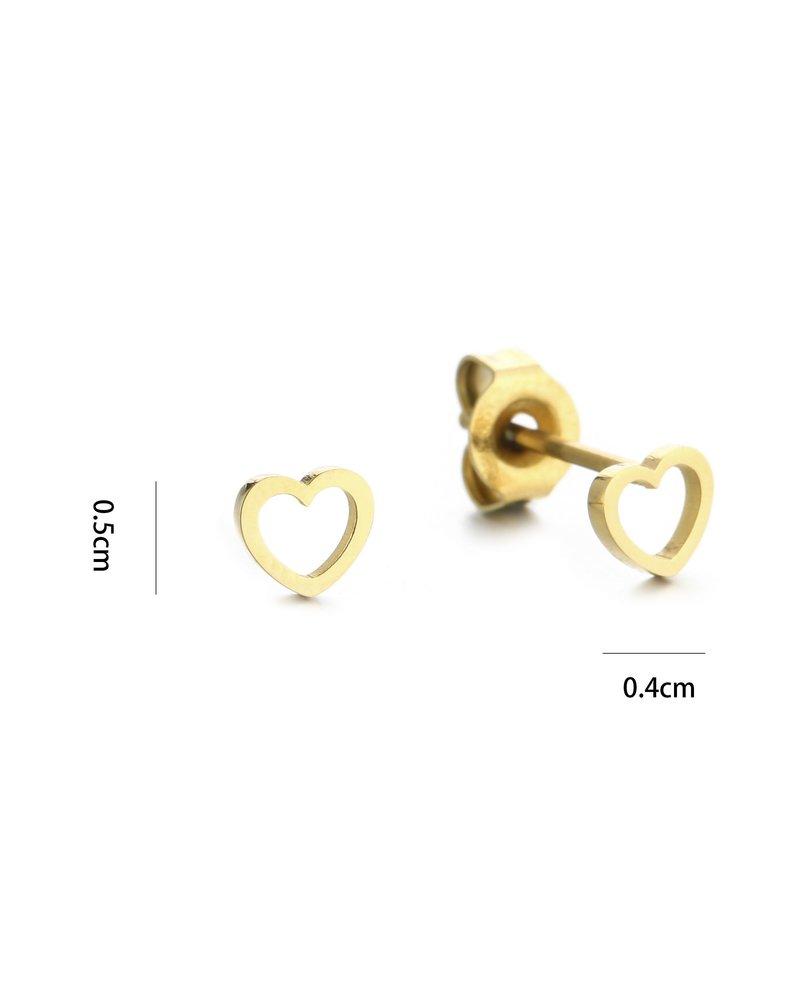 Oorbellen - Plain Heart Studs